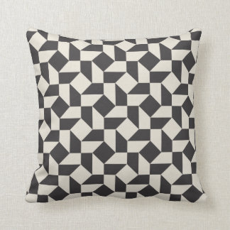 Retro Geometric Shapes Pattern Pillow