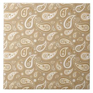 Retro Golden Paisley Pattern Tile