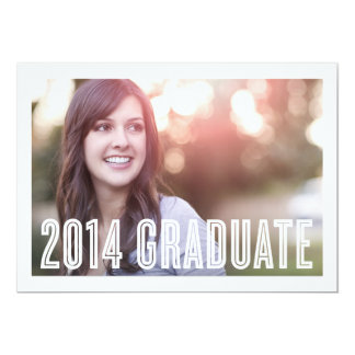 Retro Grad 2014 | Graduation Invitation