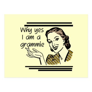Retro Grammie T-shirts and Gifts Postcard