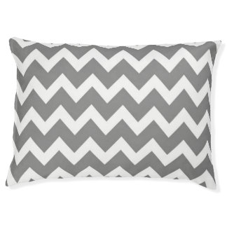 Retro GRAY ZigZag Rainbow Pattern Pet Bed