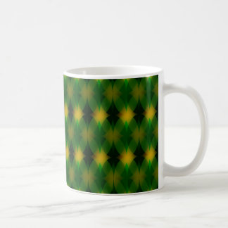 Retro green oval pattern coffee mug