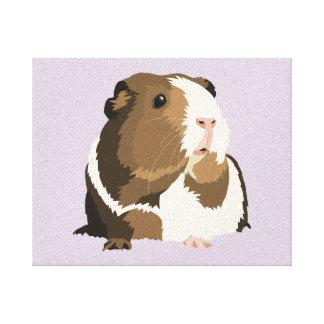 Retro Guinea Pig 'Betty' Canvas Print