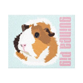 Retro Guinea Pig 'Elsie' Canvas Print