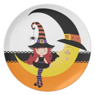 Retro Halloween Plates
