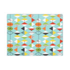 Retro Harlequin Pattern Door Mat