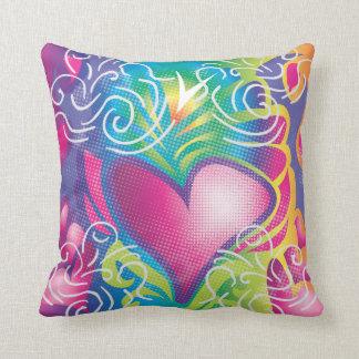 Retro Hearts Pillow Cushion