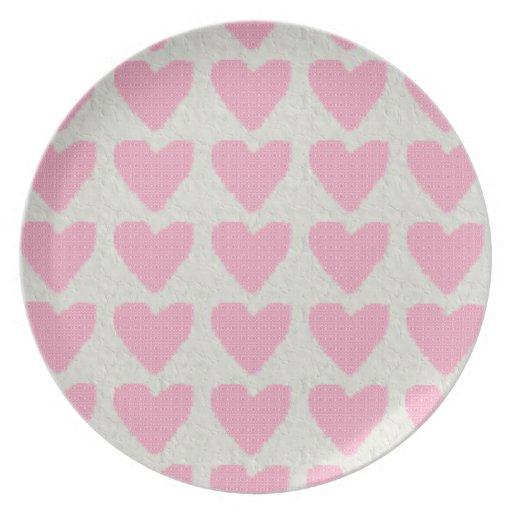 Retro Hearts Plates