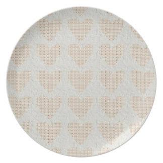Retro Hearts Dinner Plate