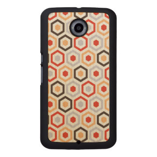 Retro hexagons wood phone case
