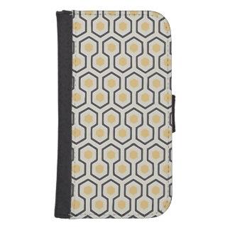 Retro Honeycomb Pattern Beehive Samsung S4 Wallet Case