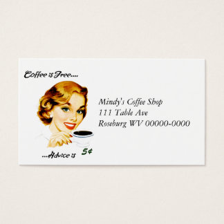 Retro Housewife Coffee and Advice Business Card