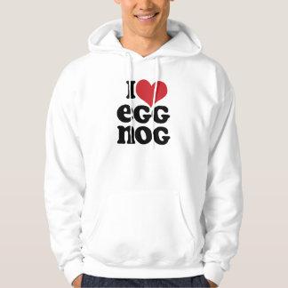 Retro I Love Eggnog Hoodie