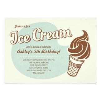 Retro Ice Cream Party Invitations