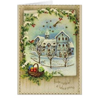 Retro Italian Christmas and New Year Card