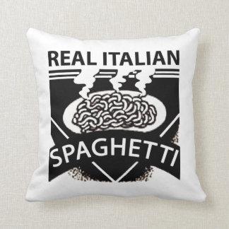 Retro Italian Spaghetti Throw Pillow