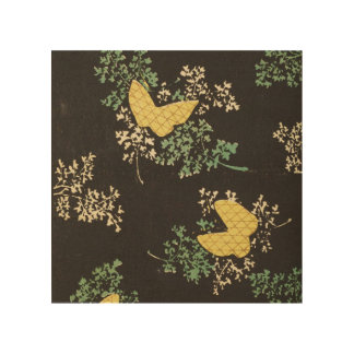 Retro Japanese Butterfly Wood Print