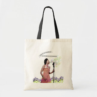 Retro Lady Life Is A Musical Sing Music Bag