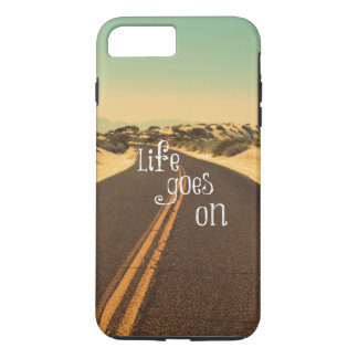 Retro Life Goes On Quote iPhone 7 Plus Case