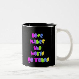 Retro Love Two-Tone Coffee Mug