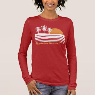 Retro Madeira Beach Long Sleeve T-Shirt
