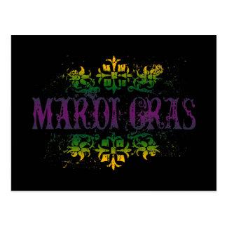 Retro Mardi Gras Postcard