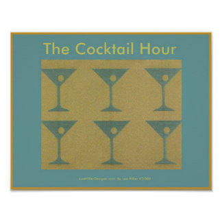 "Retro Martini ""The Cocktail Hour"" Poster"