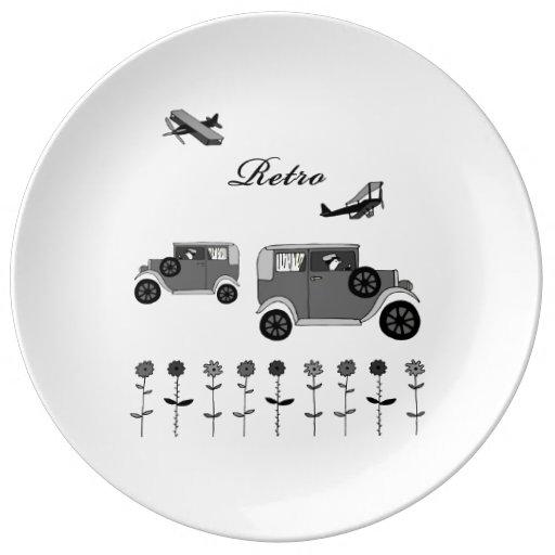 Retro Porcelain Plates