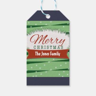 Retro Merry Christmas Gift Tag