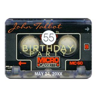 Retro Micro Audiotape 55th Birthday Invitation