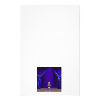 Retro Microphone On Stage Stationery