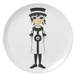Retro Mod Girl Plate