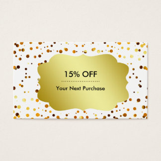 Retro Model Pattern Gold Emblem Gold Glitter Business Card