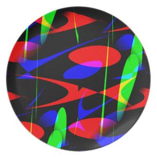 Retro Modern Abstract Dinner Plates