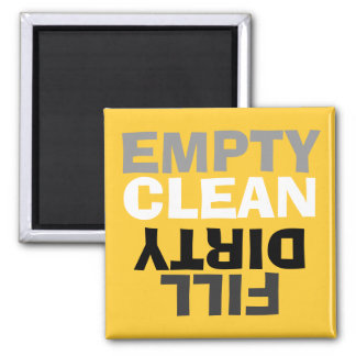 Retro Modern Clean Dirty Dishwasher Magnet Magnets