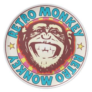 Retro Monkey Party Plates