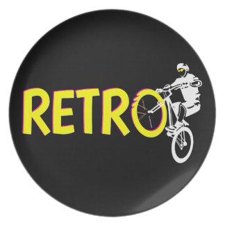 Retro Mountain bike Party Plates