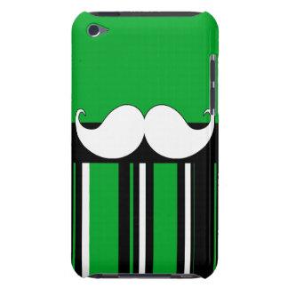 Retro Moustache Stache Mustache with Green Stripes iPod Touch Cover