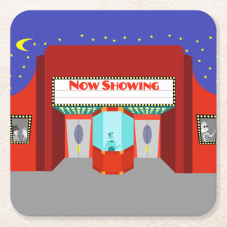 Retro Movie Theater Paper Coaster