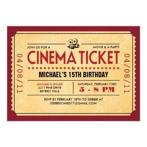 Pin Movie Ticket Template For Publisher Receive 2 Movie Tickets on ...