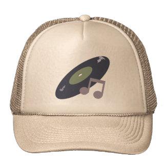 Retro Music Record & Note Original Colors Hat