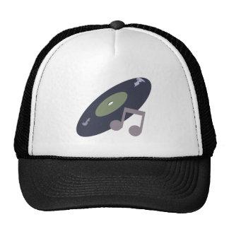 Retro Music Record & Note Original Colors Trucker Hats