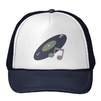 Retro Music Record & Note Original Colors Trucker Hat