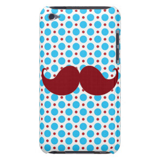 Retro Mustache on Polka Dot Background iPod Touch Case-Mate Case