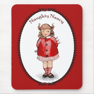 Retro Naughty Nancy Mouse Pad