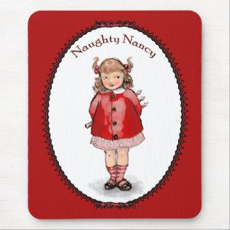 Retro Naughty Nancy Mouse Pad