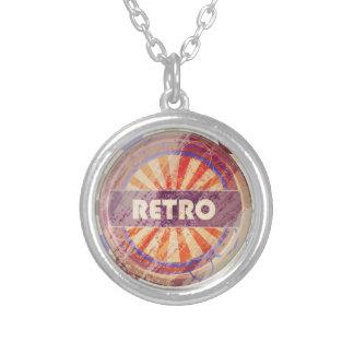 Retro Round Pendant Necklace