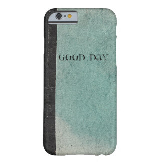 Retro note book template vintage green iPhone5Case Barely There iPhone 6 Case