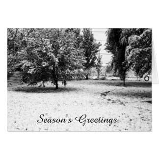 Retro October Snow Card