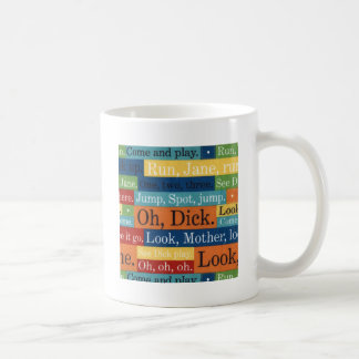 Retro oh look dick and jane coffee mug
